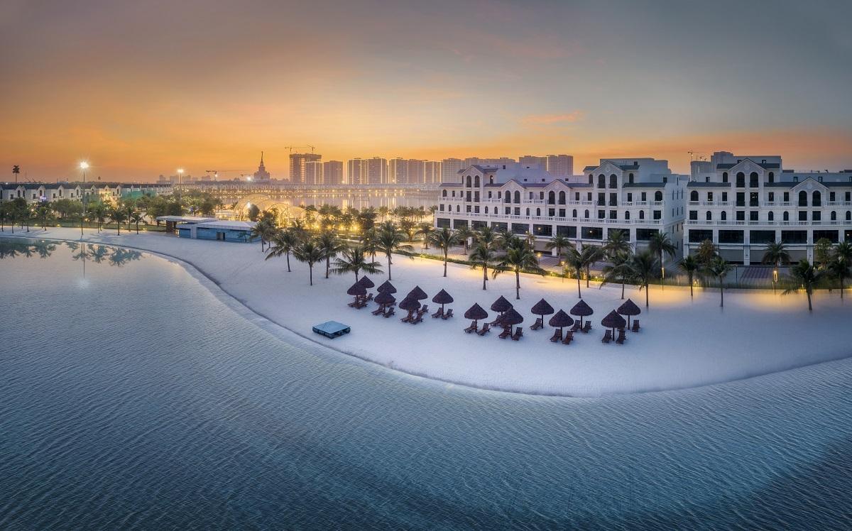 Một đô thị với biển hồ nước mặn, những tán dừa xanh mướt và bờ cát trắng mịn là cuộc sống đậm chất nghỉ dưỡng ở Vinhomes Ocean Park